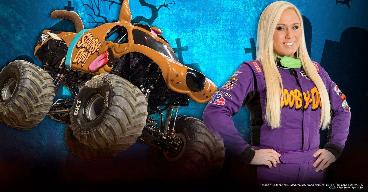 Ahead of the Monster Jam event coming to Bridgeport's Webster Bank Arena November 15-17, fans are invited to see Scooby-Doo!, the Monster Jam truck driven by Myranda Cozad, on display at the Westfield Mall in Trumbull on November 14, from 2 to 6 p.m. Cozad is not expected to attend the diplay event at the mall.
