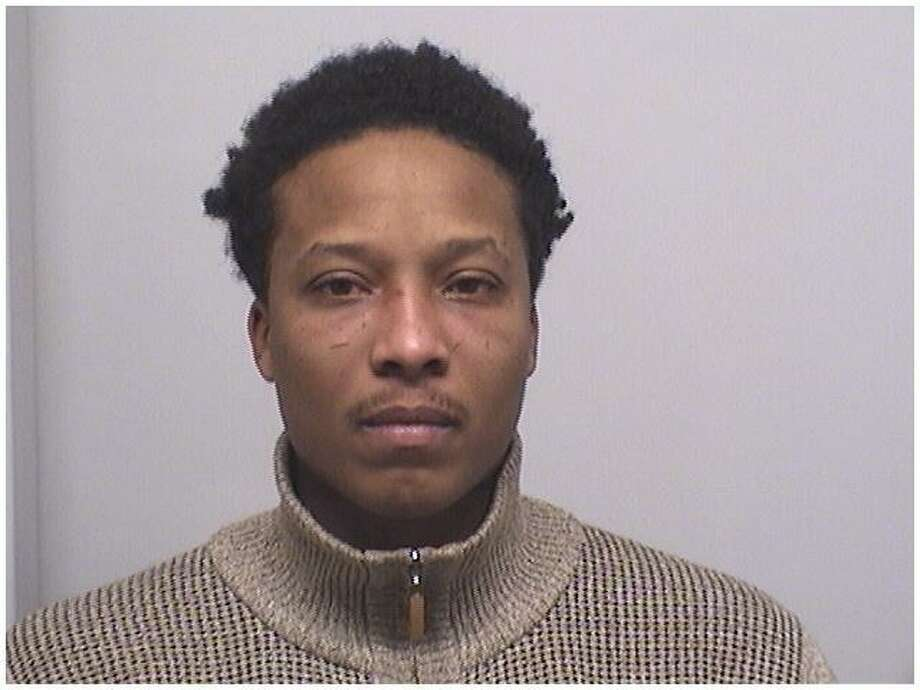 David Pouncy, 32, of New Haven, was charged with stealing a car getting gas at the BP gas station on West Broad Street in Stamford. Photo: Stamford Police Department / Contributed