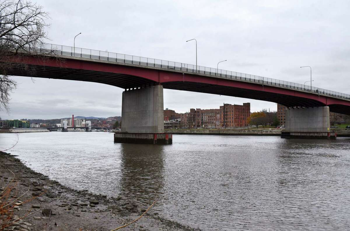View of Congress Street Bridge over the Hudson River on Monday, Nov. 11, 2019, seen from Hudson Shores Park in Watervliet, N.Y. (Will Waldron/Times Union)