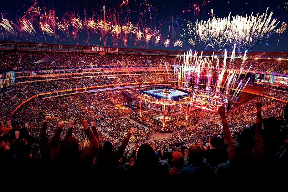 WWE's WrestleMania 35, held April 7, 2019, at MetLife Stadium in East Rutherford, N.J., produced an approximately $165 million economic impact for the New Jersey-New York region, according to new survey results. Photo: Contributed Photo