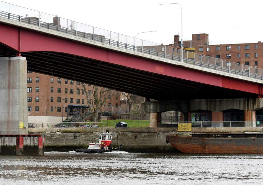 View of the Congress Street Bridge on the Troy shoreline on Monday, Nov. 11, 2019, seen from Hudson Shores Park in Watervliet, N.Y. (Will Waldron/Times Union) Photo: Will Waldron, Albany Times Union / 40048232A