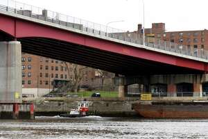 View of the Congress Street Bridge on the Troy shoreline on Monday, Nov. 11, 2019, seen from Hudson Shores Park in Watervliet, N.Y. (Will Waldron/Times Union)