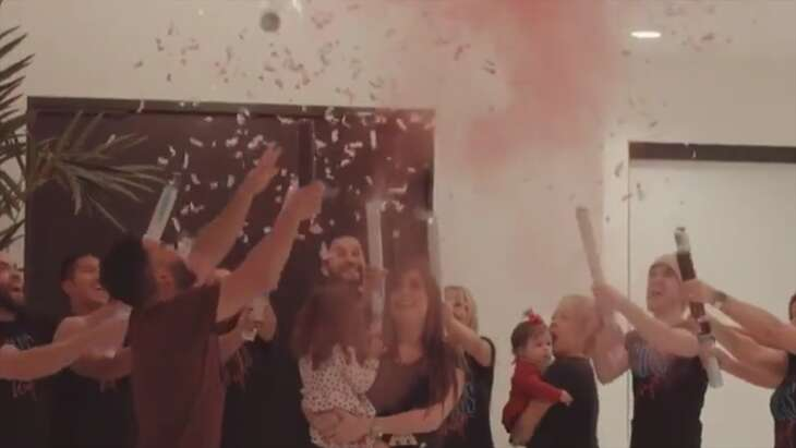 Jose Altuve's wife Giannina shared a video of the couple's gender reveal on her Instagram story Sunday.
