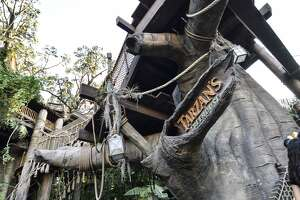 FILE - The entry to Disneyland's Tarzan's Treehouse.