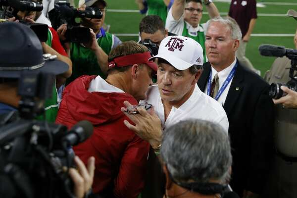 """Jimbo Fisher sent """"thoughts and prayers"""" to former coach Chad Morris and Arkansas after the latter was fired Sunday following just 22 games at the Razorbacks' helm."""