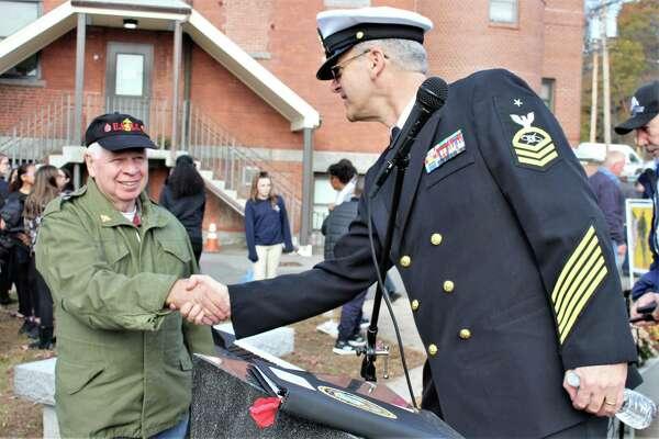 Ansonia held a Veterans Day ceremony Monday.