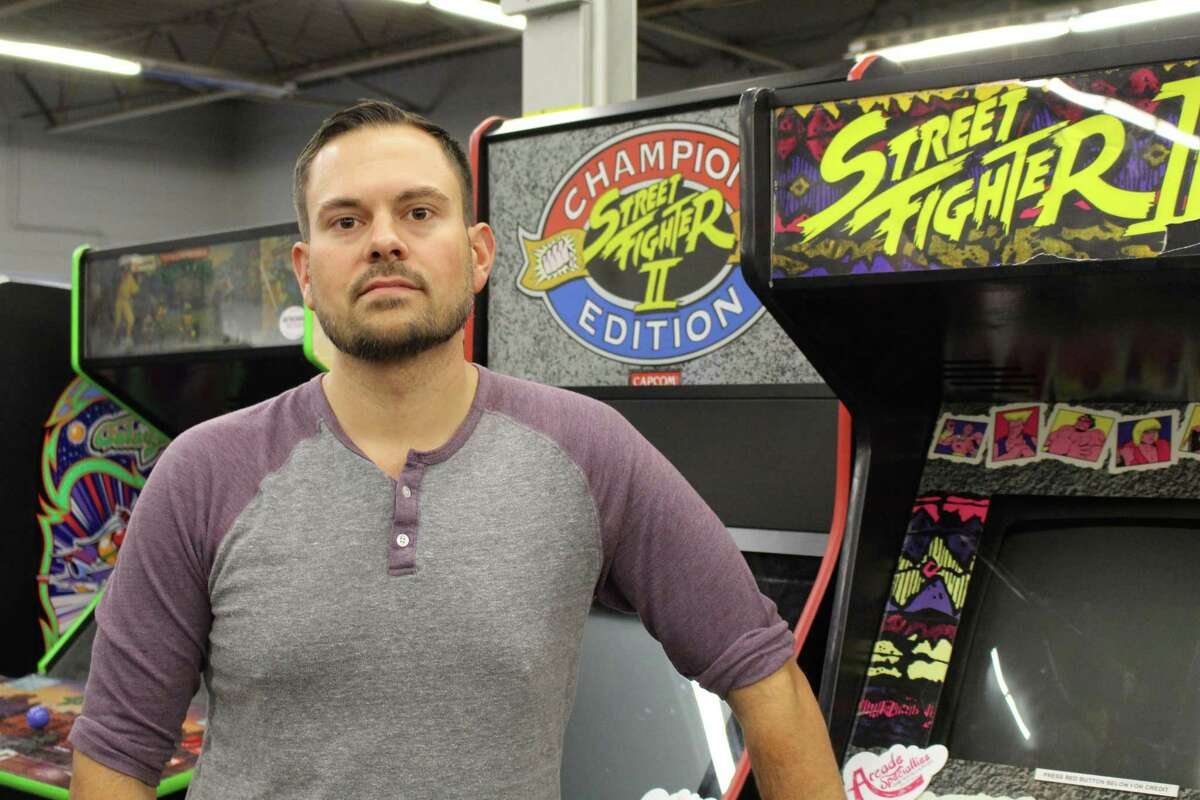 Steve Hozan, owner and CEO of Arcade Specialties and Prop Specialties in Stratford.