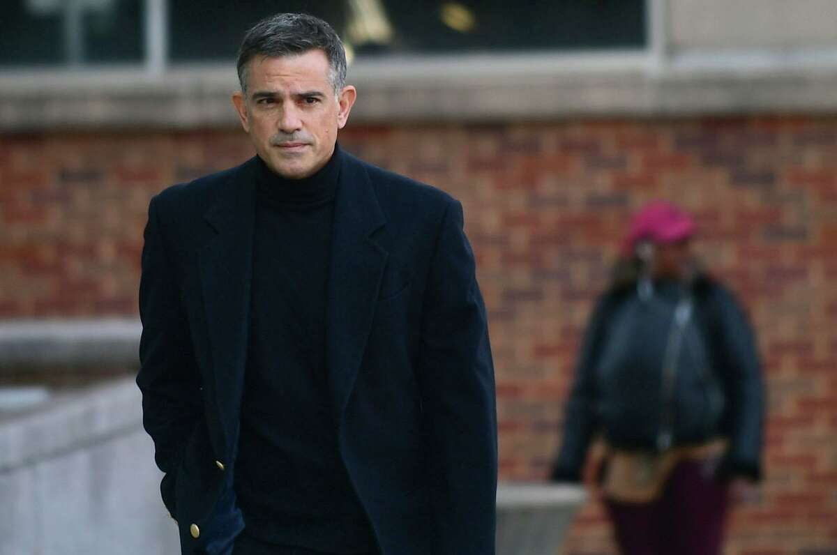 Fotis Dulos, charged with two counts of tampering with evidence and hindering prosecution in the disappearance of Jennifer Dulos, appears for a pre-trial hearing Wednesday, November 6, 2019, at the Stamford Superior Court in Stamford, Conn.