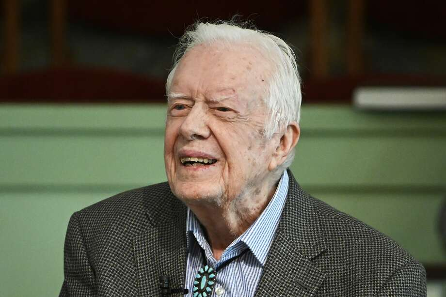 In this Sunday, Nov. 3, 2019, photo, former President Jimmy Carter teaches Sunday school at Maranatha Baptist Church in Plains, Ga. Carter has been admitted to Emory University Hospital for a procedure to relieve pressure on his brain, caused by bleeding due to his recent falls. A spokeswoman says the procedure is scheduled for Tuesday morning, Nov. 12. (AP Photo/John Amis) Photo: John Amis, Associated Press