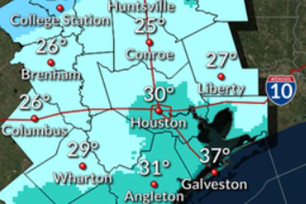Cold weather swept through the Houston area overnight.