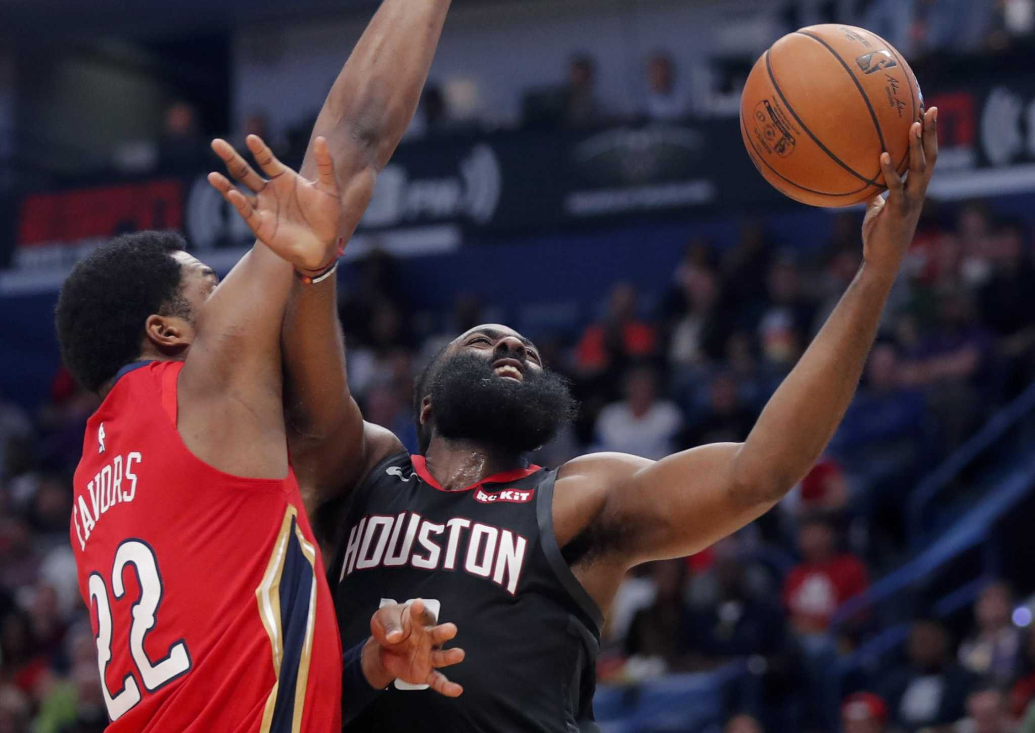 James Harden takes over to push Rockets past Pelicans
