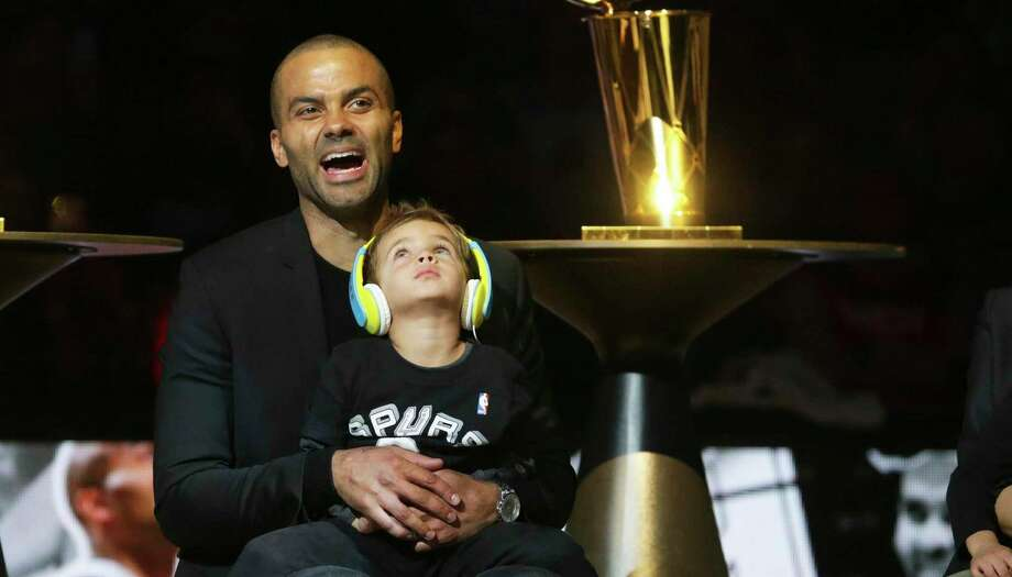 """""""Tony Parker: The Final Shot"""" concludes with scenes from Parker's jersey retirement ceremony and the celebration that followed. Photo: Staff File Photo / 2019 SAN ANTONIO EXPRESS-NEWS"""