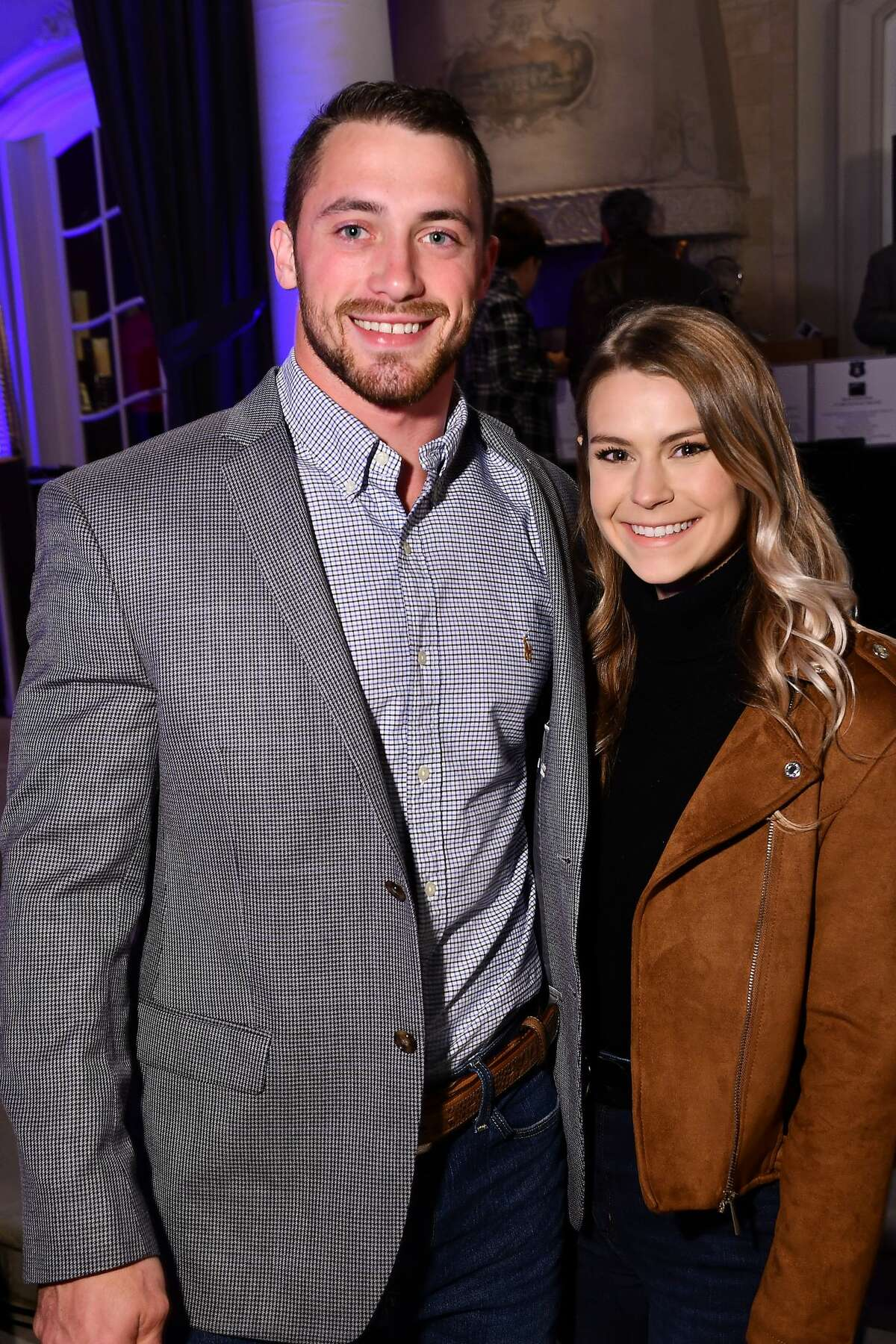 Bryce Plant and Kalie Dickason at the Houston Police Foundation's 12th Annual True Blue Gala at the home of Tilman Fertitta Friday Nov. 8,2019.(Dave Rossman photo)