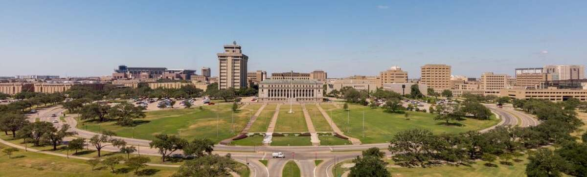 12. Texas A&M University-College Station The 53,150 undergraduates at Texas A&M University, excluding those taking only remote classes, make up 45.8 percent of College Station's population.  The school, currently operating a hybrid model, has reported 907 COVID-19 cases since Aug. 15.