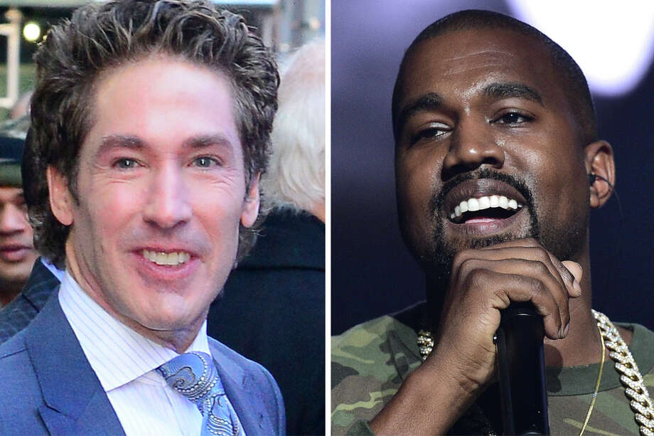 Kanye West and Joel Osteen Photo: Getty Images