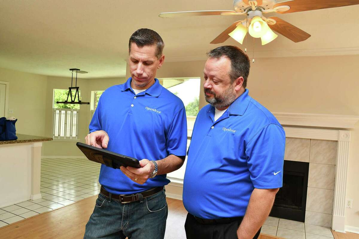Opendoor Houston's head of homes Drew Kayes and general manager, Jason Cline at one of the company's homes in Sugar Land Wednesday Aug. 28,2019.(Dave Rossman Photo)