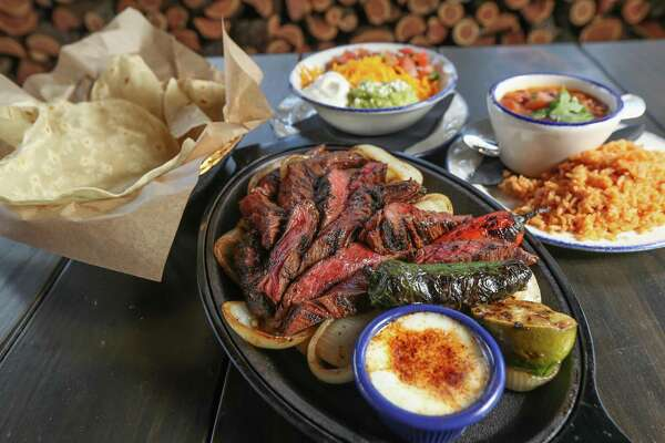 Beef fajitas with chile lime butter at Candente
