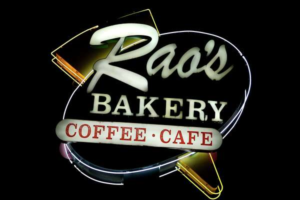 A neon sign at Rao's Bakery in Beaumont. Photo taken Tuesday 6/26/18 Ryan Pelham/The Enterprise