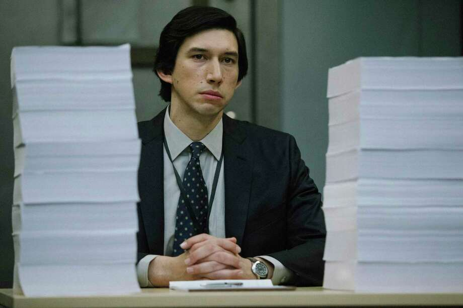 "This image released by Amazon Studios shows Adam Driver in a scene from ""The Report."" (Atsushi Nishijima/Amazon Studios via AP) Photo: Atsushi Nishijima, HONS / Associated Press / Amazon Studios"