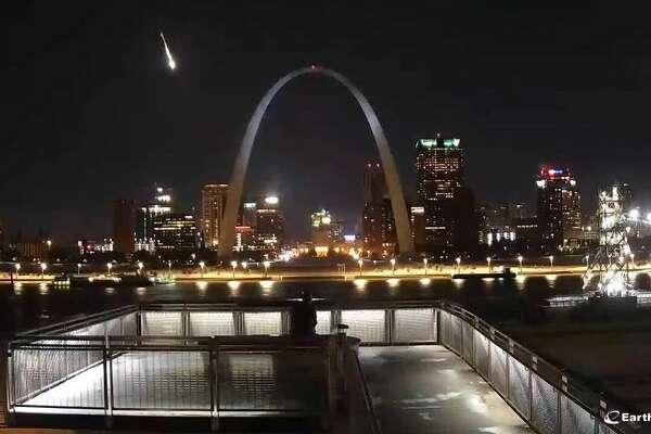 The St. Louis EarthCam caught sight of the fireball on Nov. 11.