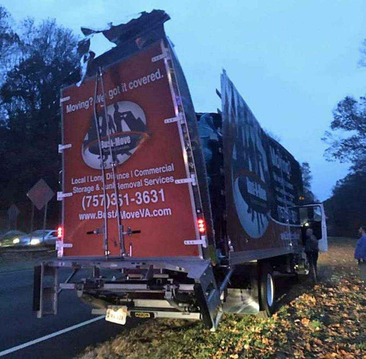 The driver of a tractor-trailer truck will be getting a ticket after his vehicle slammed into a bridge over the Merritt Parkway in Norwalk on Tuesday, Nov. 12, 2019.