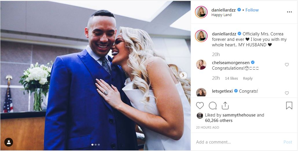 Astros shortstop Correa, former Miss Texas from Laredo Daniella Rodriguez officially tie the knot