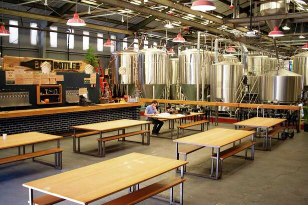 Barebottle Brewing Co.'s taproom in San Francisco's Bernal Heights neighborhood.