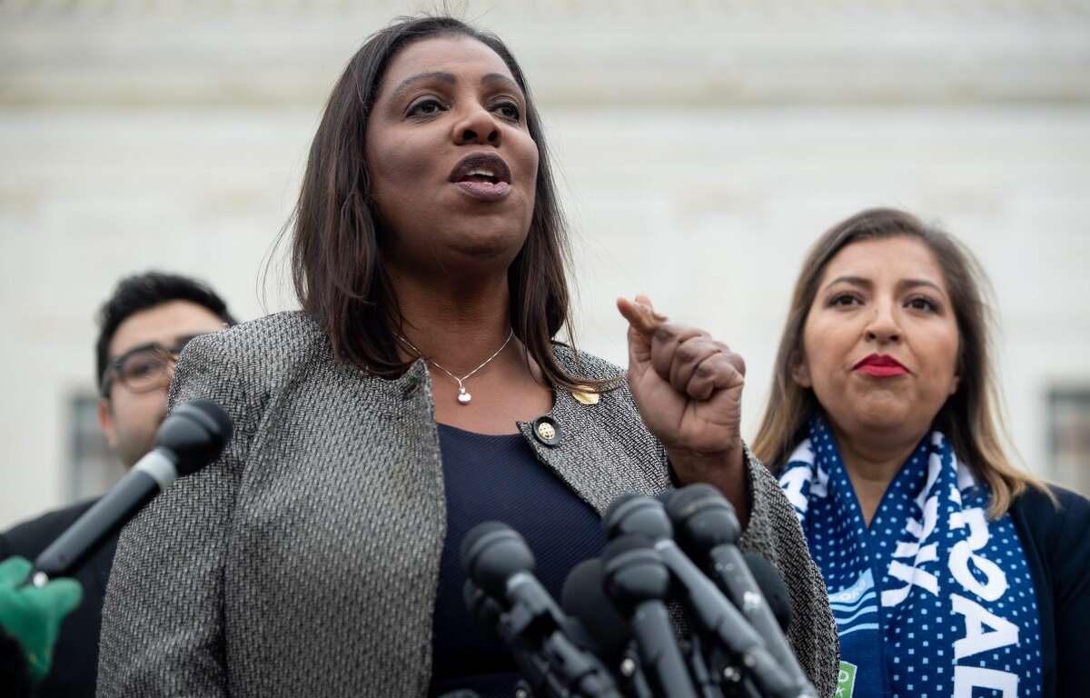New York Attorney General Letitia James speaks following arguments about ending DACA (Deferred Action for Childhood Arrivals) outside the US Supreme Court in Washington, DC, November 12, 2019. - The US Supreme Court hears arguments on November 12, 2019 on the fate of the