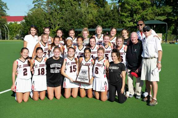 The St. John's field hockey team defeated Kinkaid 1-0 in 1v1s for its second consecutive SPC championship Nov. 9 at The Kinkaid School. The Mavericks won their sixth title this decade and 15th in program history.