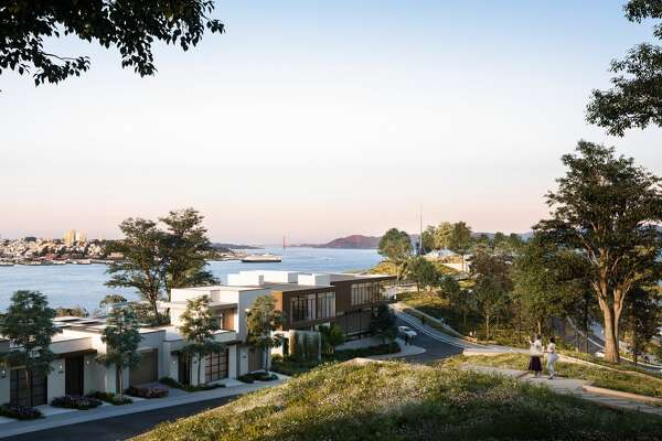 Renderings show a new housing development on Yerba Buena Island in San Francisco Bay