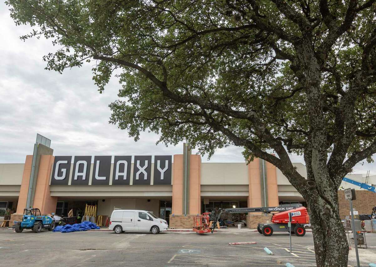 Work was ongoing Tuesday to prepare the remodeled Santikos Galaxy for its debut today. Curved screens with the latest projection and audio technology are among the updates.