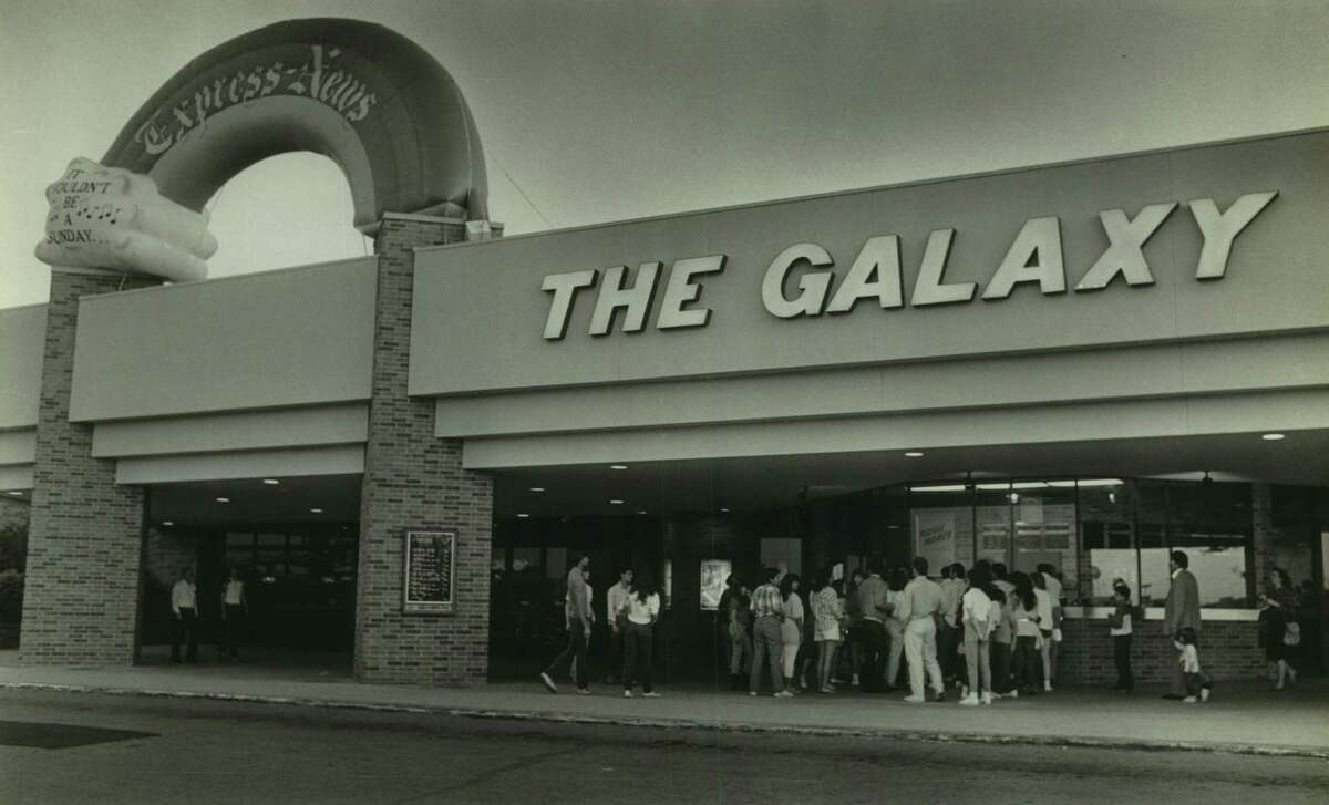A 1987 photo of the Galaxy movie theater, which first opened in 1979. The theater was renamed the Rialto BrewHaus in 2001, but is the Galaxy once again following a renovation and reopening slated for Nov. 15, 2019.