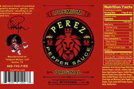 """Perez Pepper Sauce"" is the new business co-founded by the husband of the Tejano legend Selena. He has been working with business partner John Gomez to bring ""Tongues Ablaze LLC"" to fruition since August. On Nov. 16, the small-batch hot sauce will be available online for worldwide shipping and at Trader's Village."