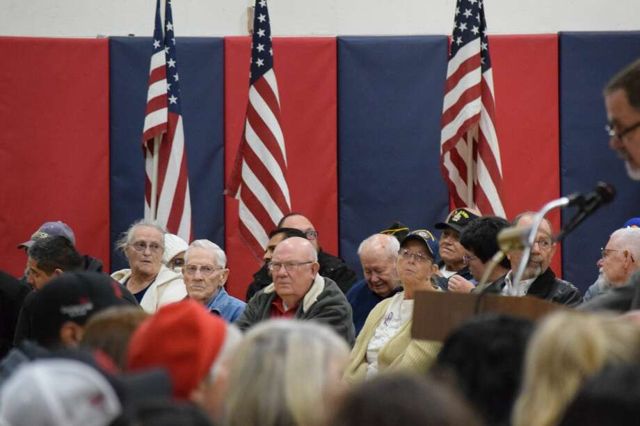 Local veterans were recognized on Monday during a special program at Estacado Middle School. Photo: Ellysa Harris/Plainview Herald