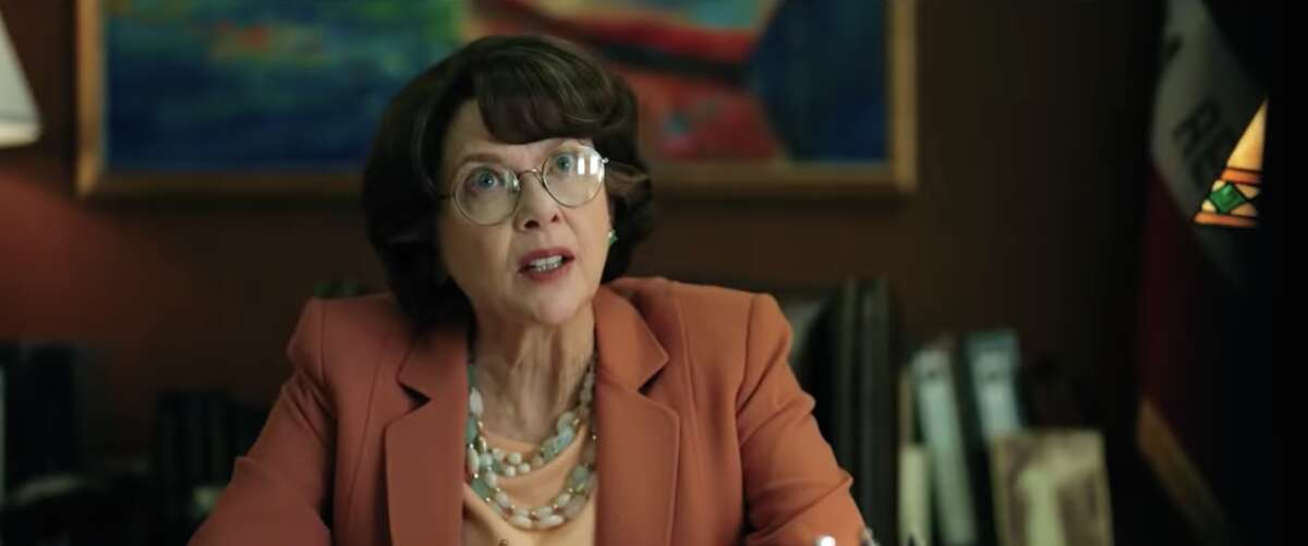 "Annette Bening as Dianne Feinstein in ""The Report."""