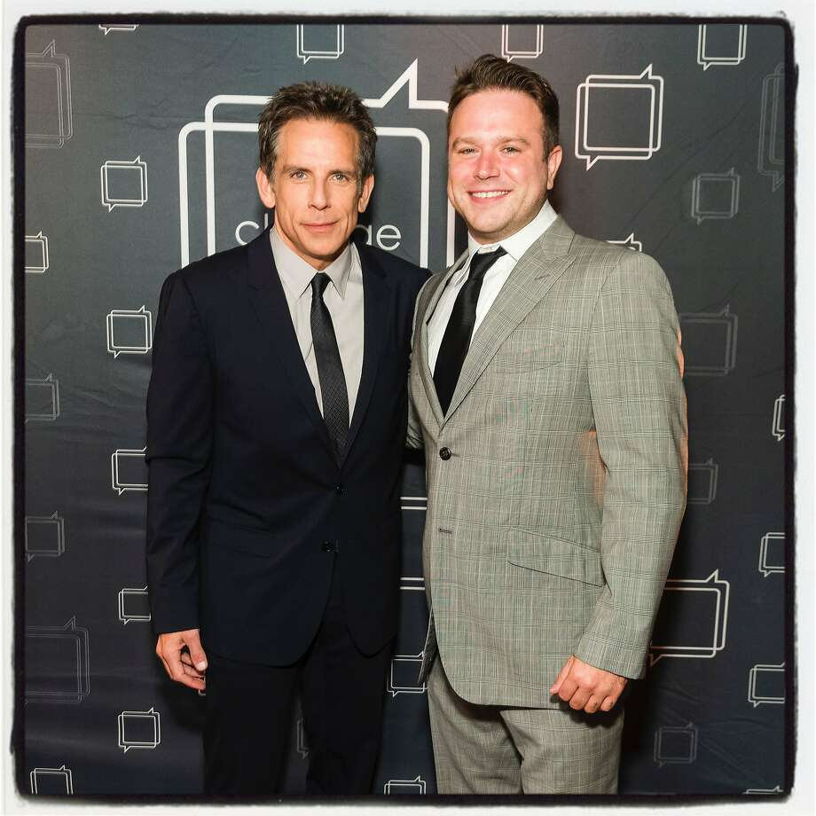 Actor Ben Stiller (left) and Zak Williams at the Revels & Revelations fundraiser. Oct. 17, 2019. Photo: Devlin Shand / Drew Altizer Photography