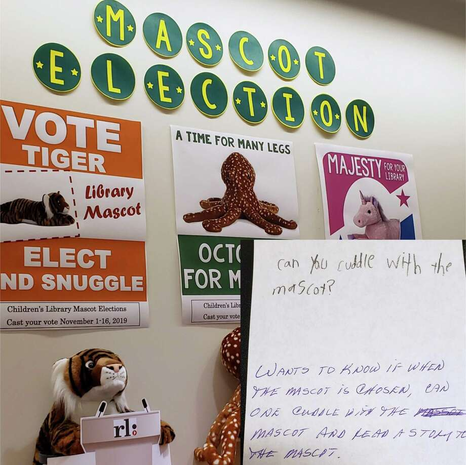 The Mascot Election at Ridgefield Library has three qualified candidates seeks voter approval. Photo: Contributed Photo