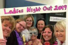 More than 50 vendors participated in the Oct. 24 breast cancer awareness fundraiser held at Candlewood Valley Health and Rehabilitation Center. Shown above at the event are, from left to right, Linda Frame, Helen Fitzgerald, Chris Ritter, Kristie Nyul, Mary Schiffenhaus, Melissa Marici and Nina Zschunke.