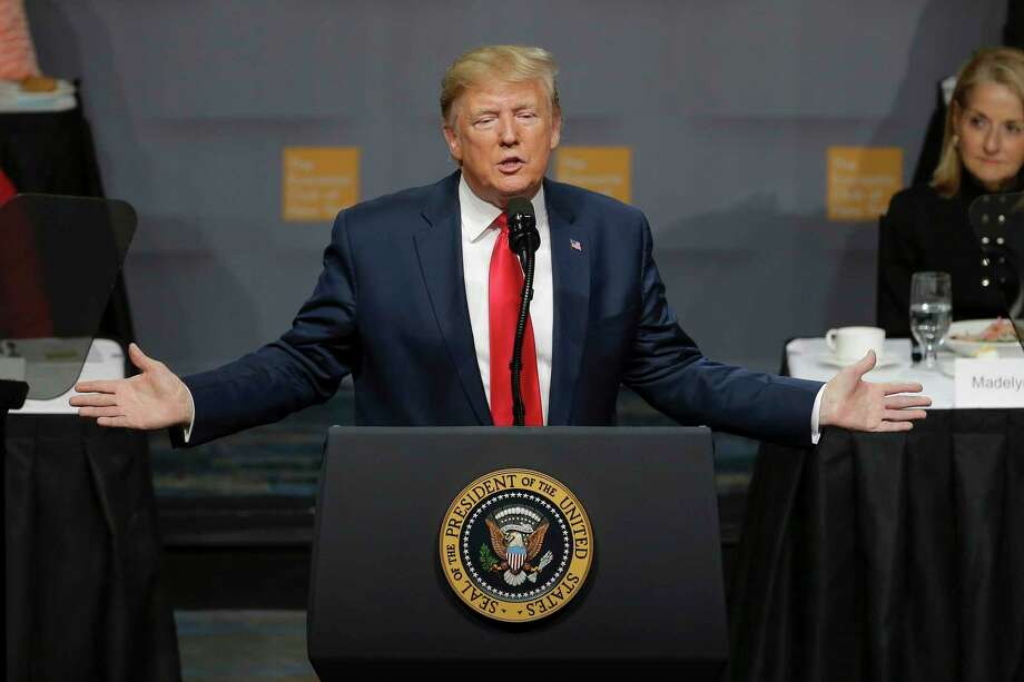 President Donald Trump addresses the Economic Club of New York Tuesday, Nov. 12, 2019, in New York. Photo: Seth Wenig, AP / Copyright 2019 The Associated Press. All rights reserved.
