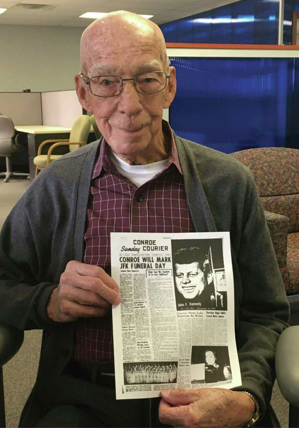 """Jesse Berwick, 91, was an Air Traffic Controller in New Orleans in 1963 during the assassination of President John F. Kennedy. Berwick believes a man named """"Butler"""" who hung around the New Orleans airport was meant to fly Lee Harvey Oswald to Cuba following the assassination."""