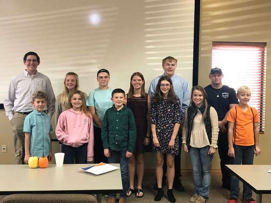 Members of Jersey County 4-H celebrated their hard work and success at the 2019 Achievement Program on Nov. 10. Pictured are, front row from left, Grant Blasa, Jena Pegram, Noah Burns, Taylor Woodring, Whitney Lahey and Clark Blasa; back row from left, Benjamin Fessler, Ava Pegram, Kelsey Belcher, Leann Woodring, Cameron Little and Colton Adams.