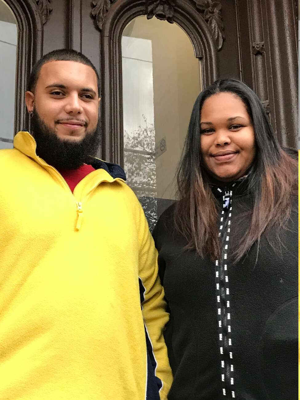 Isaac Espiritusanto and fiancé Jasmin Almonte were nearly evicted from their Albany apartment after they fell behind on rent, but eviction was averted with assistance from United Tenants of Albany and Albany County DSS.