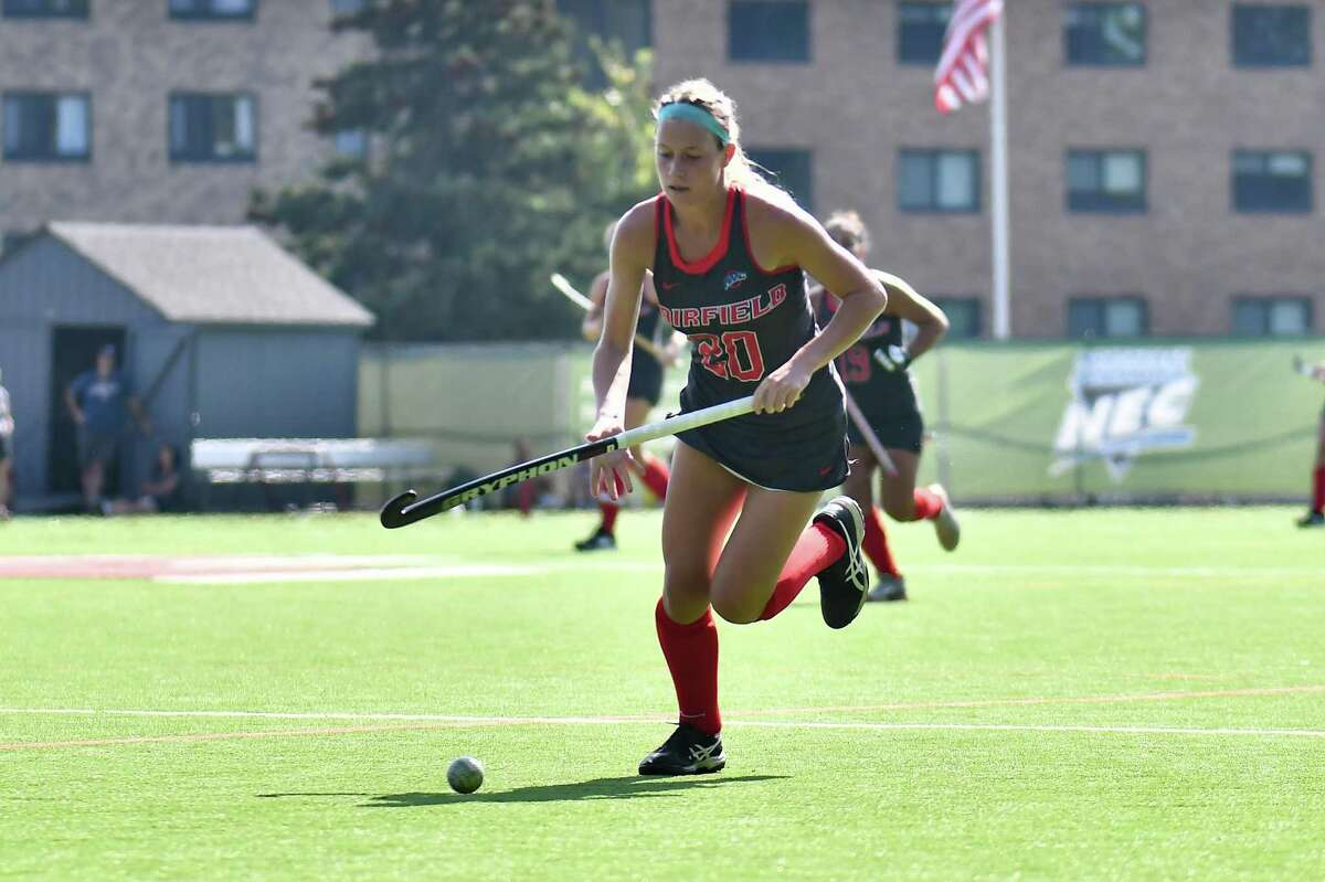 Fairfield University freshman Madison Hoskins had two goals in the NEC tournament, including game-winning goal in overtime in title game.