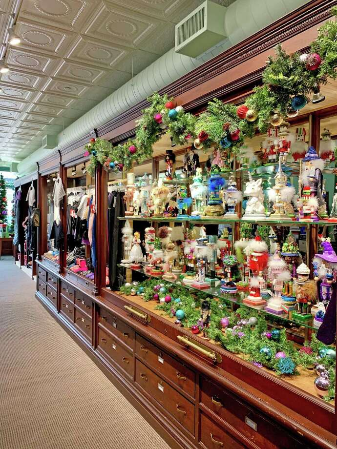"""Above, dozens of nutcracker dolls fill the shelves of the Nutmeg Dance Shop, a popular item as Nutmeg Ballet's annual production of """"The Nutcracker"""" is weeks away. Photo: Victoria Mazzarelli / Contributed Photos"""