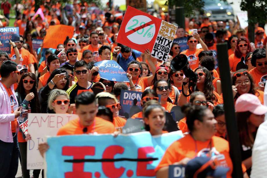 Undocumented immigrant youth leaders march in Houston in 2016. Just like every other prior wave of immigrants, Hispanics have come to this country and thrived. Photo: Staff File Photo / © 2015 Houston Chronicle