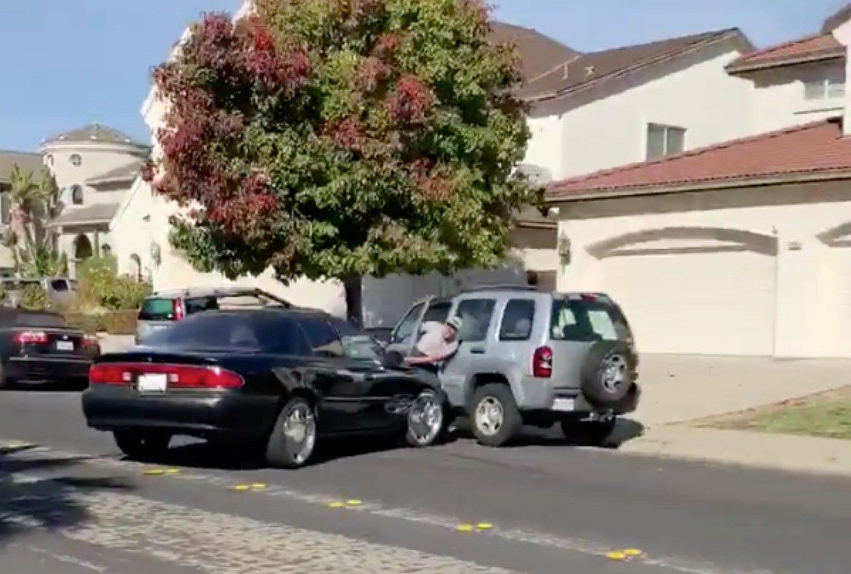 Antioch Police are investigating after a viral video shows a man violently ramming another man with his car.
