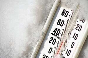 Thermometer in ice