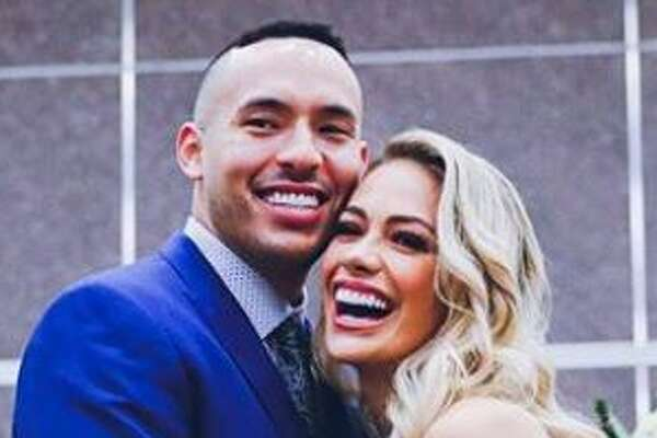 Astros shortshop Carlos Correa and former Miss Texas Daniella Rodriguez, who hails from Laredo, shared their wedding ceremony on Instagram.
