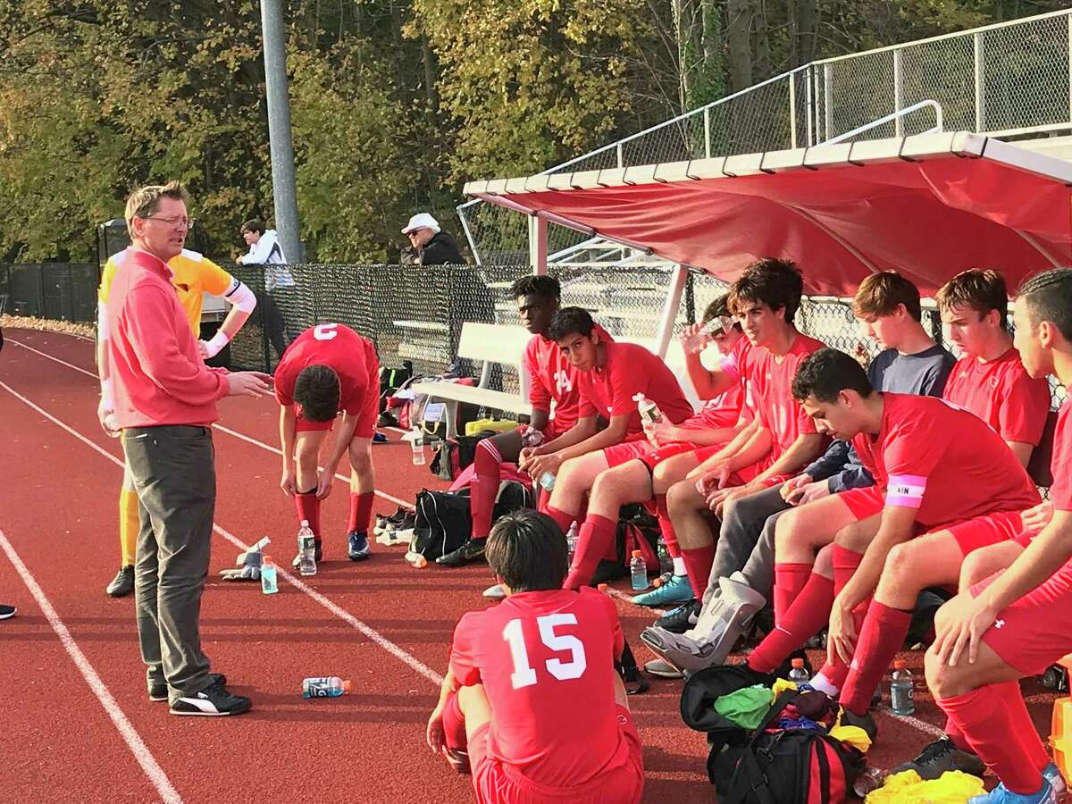 The Greenwich boys soccer team posted a 3-2 win over Conard in the opening round of the CIAC Class LL Tournament on Monday in Greenwich.