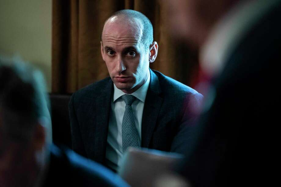 Stephen Miller listens during a Cabinet meeting at the White House in August 2018. Photo: Washington Post Photo By Jabin Botsford. / The Washington Post